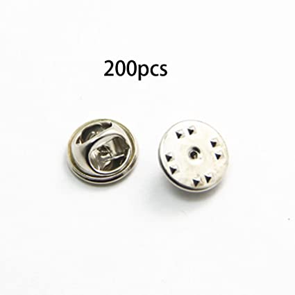 beaab5edc128 Kofun Brooch Pins, 2 Pieces Diy Brooch Round Clasps Pin Tie Tacks Blank Pins  With Clutch Back Sliver Silver: Amazon.co.uk: Kitchen & Home