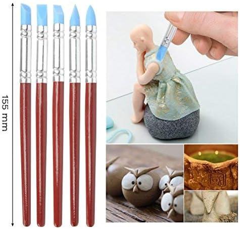 FOROREH 19pezzi Strumento di Argilla Ceramica Strumenti per Scolpire Argilla per Modellare i Polimeri Penna a Sfera Punte di Gomma per Intaglio in Ceramica per Professionisti o Principianti
