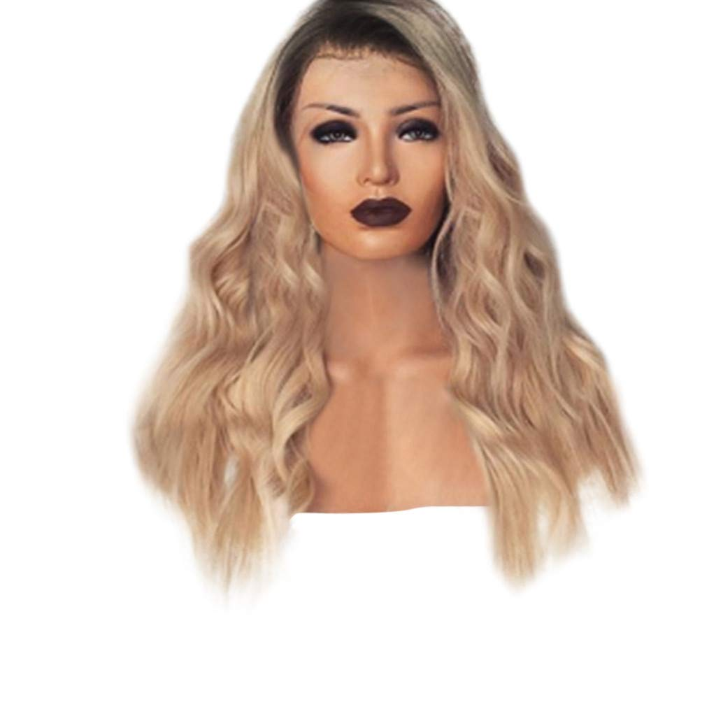 Hair Wig,FAPIZI Fashion Lace Front Human Hair Wigs Pre Plucked with Baby Hair Curly Brazilian Remy Hair Wig