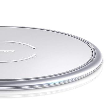 Cargador Inalámbrico ESR, [Marco de Metal de 10 W/7,5 W] Carga Rápida para iPhone 11/11 Pro/11 Pro Max/Xs/Xs Max/XR/X/8/8+, Samsung S10/S10+/Note ...