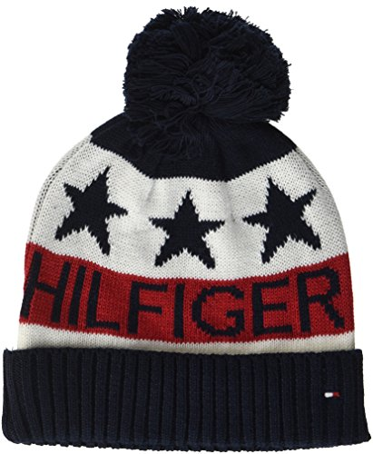 132bb05c221b Tommy Hilfiger Boy s Kids Hilfiger POM Beanie Hat Multicoloured (Corporate  Clrs 901) One Size  Amazon.co.uk  Clothing