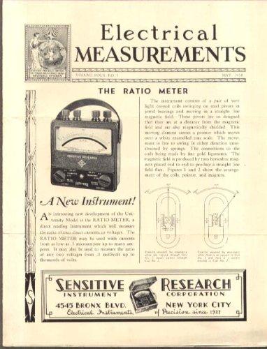 Sensitive Research Electrical Measurements: Ratio Meter