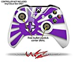 Rising Sun Japanese Flag Purple - Decal Style Skin Set fits XBOX One S Console and 2 Controllers (XBOX SYSTEM SOLD SEPARATELY)