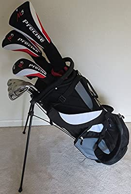 "Mens Complete Golf Set for Tall Men 6'0""- 6""6 Tall Driver, Fairway Wood, Hybrids, Irons, Putter, Stand Bag"