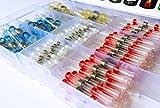 AIRNIX 200 Piece Assorted Heat Shrink Solder Sleeve Crimpless Butt Splice Connectors