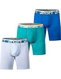 JINSHI Men's Comfort Soft Bamboo Fibre Boxer Briefs