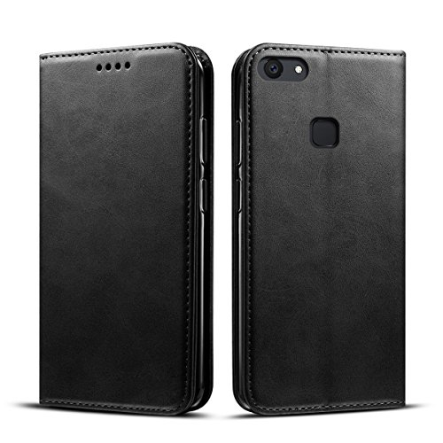 Happon (for Vivo V7 Plus) Flip Wallet Case Cover and 360 Degree Full Body Protective Bumper Cover, Premium Protective Shell Material - ()