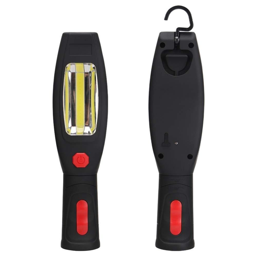 Linterna LED multifunción portátil COB + gancho plegable magnético LED inspección, para inspección, LED linterna recargable 0f14ab