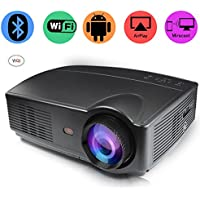 CPX DLP Home Theater Projector, Mini Video Projector 1080P Portable Wi-Fi Smart Pico Projector, Max 120 Screen Ideal for IOS/ Android/ Laptop/ iPad/ USB flash driver/PC devices (328)