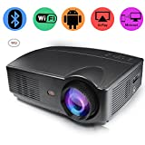 CPX-328 LCD Home Theater Projector, Mini Video Projector 1080P Portable Wi-Fi Smart Pico Projector, Max 120'' Screen Ideal for IOS/ Android/ Laptop/ iPad/ USB flash driver/PC devices (328)