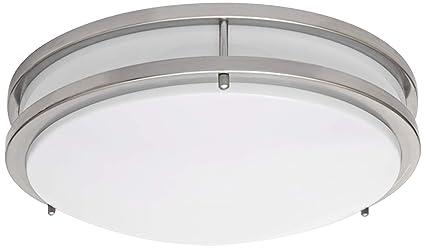 LB72122 LED Flush Mount Ceiling Light, 16-Inch, Antique Brushed ...