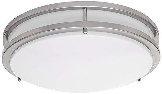 lb72122 led flush mount ceiling light 16inch antique brushed nickel 23w