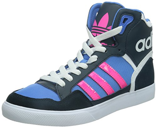 adidas Extaball - Zapatillas abotinadas Mujer azul - petrol ink s15-st/solar pink/lucky blue s15