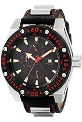 ANDROID Men's AD673BR Powerjet Analog Swiss-Quartz Black Watch
