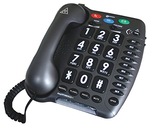 Geemarc Ultra Amplified Corded Telephone, Loudest Telephone Available, (Amplified Telephone Ringer)