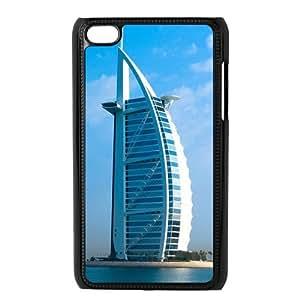 Custom Dubai Burj Al Arab Design Plastic Case Protector For Ipod Touch 4 4th Generation