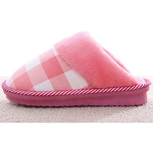 Eastlion Damen Indoor Winter Keep Warm Fleece Hausschuhe Haus Hausschuhe Dunkelgraue Schuhe
