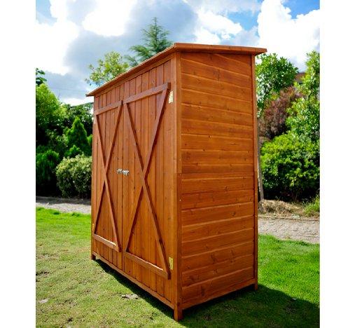 Armadio ripostiglio da esterno in legno for Armadietti per giardino