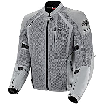 Joe Rocket Phoenix Ion Men's Mesh Motorcycle Jacket (Silver, Large)