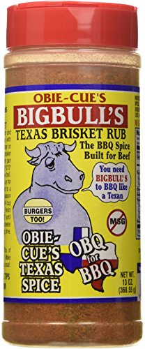 Texas Brisket Rub (Obie-Cue's Big Bull's Texas Brisket Seasoning - 13oz)