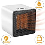 GiniHome Space, 400W/800W Portable Heater with Adjustable Thermostat,Heat Up Fast,Tip-Over & Overheat...