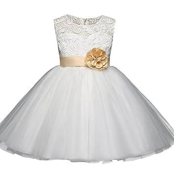 Vestido de fiesta para niñas Vestido de dama de honor de flores vestido de niña de