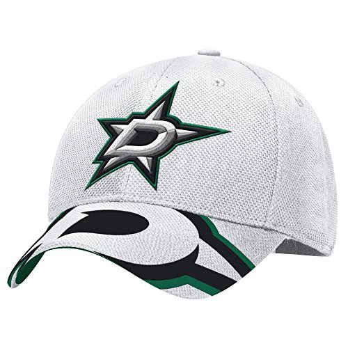 adidas NHL Dallas Stars Men's Draft Take Down Cap, Small/Medium, White