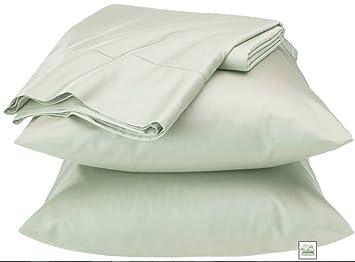fieldcrest luxury egyptian cotton 600 thread count sheet set full calypso green - Fieldcrest Bedding