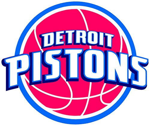 skyhighprint - Detroit Pistons NBA Basketball Sport Decor Vinyl Print Sticker 14'' X 12''
