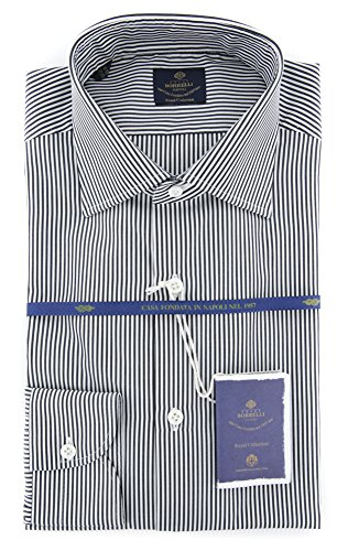 new-luigi-borrelli-charcoal-gray-striped-extra-slim-shirt