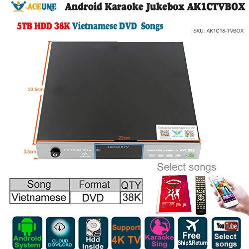 - 5TB HDD,38K Vietnamese Songs Android Karaoke Player,/Jukebox,Free Cloud Download Songs,YOUTUBÊ Songs Sing