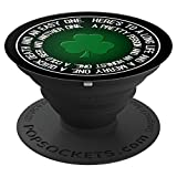Lucky Shamrock Clover St. Patrick's Day Irish Toast - PopSockets Grip and Stand for Phones and Tablets