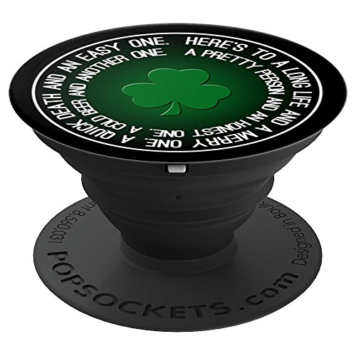 Lucky Shamrock Clover St. Patrick's Day Irish Toast - PopSockets Grip and Stand for Phones and Tablets by Mix Web Shop