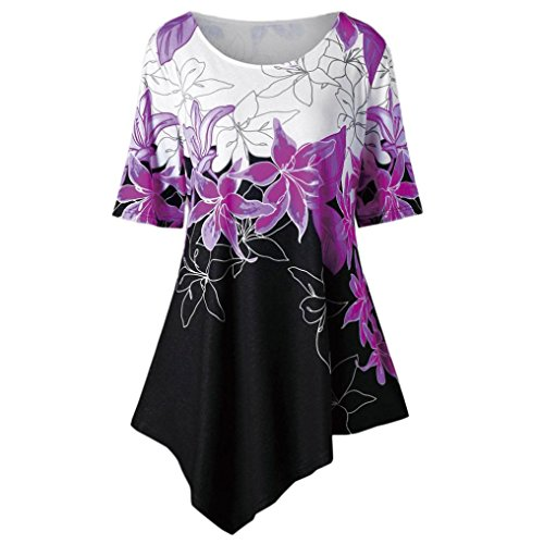 Womens Contrast Stitch Lightweight Jacket - Clearance Sale! Wintialy Large Size Women Flowers Printing T-Shirt Short Sleeve Casual Tops Blouse