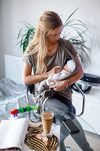 sofsy Verde Moda Davanti Laccio Morbido in Rayon Oliva prémaman sul alla con e Top maternità Ov7qYXOr