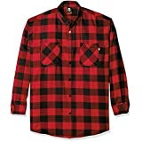 Ecko Unlimited Men's Big and Tall Bison Long Sleeve Shirt, Red, 4XB