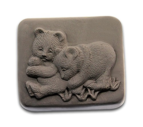 Two cute bears 0987 Craft Art Silicone Soap mold Craft Molds DIY Handmade soap molds