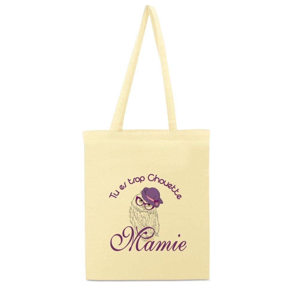 F/ête de Mamy Tote Bag Cadeau pour Mamie No/ël Cadeau pour la f/ête des Grands M/ères Sac 1 Sac en Toile Anniversaire