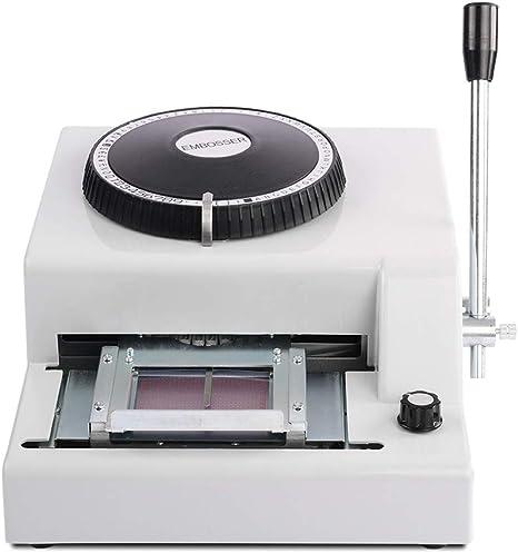 72 Letter Embosser Machine PVC Sample Card Credit ID VIP Embossing USA Warehouse