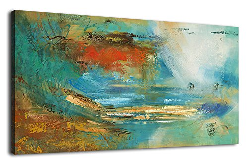 arteWOODS Colorful Abstract Canvas Wall Art Prints For Home Decoration - Large Panoramic Canvas Art Abstract Painting Modern Artwork for Home Decoration by arteWOODS