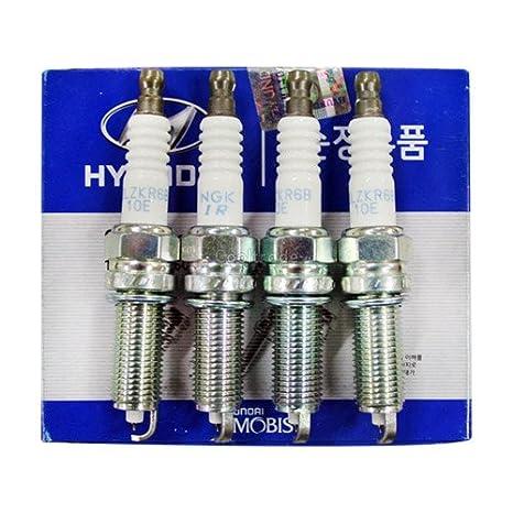 Spark Plug Genuine Parts 4ea 1set 188461006 Fit: Hyundai Elantra GT I30 2012 2013: Amazon.es: Coche y moto