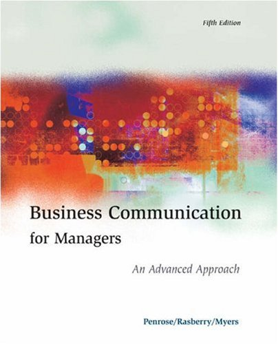Business Communication for Managers: An Advanced Approach