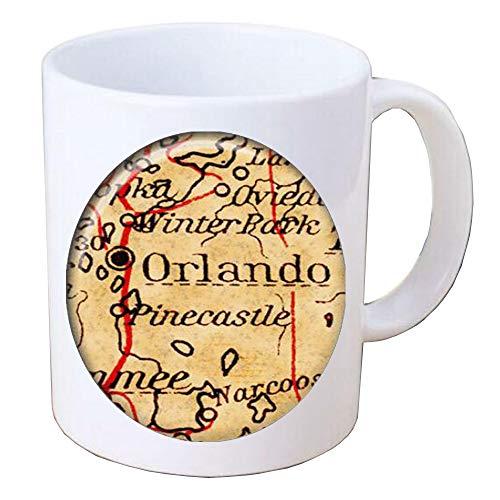 Map Mug Orlando Florida Mug NY Coffee Mug Art Mug,Orlando Florida Map Mug,Florida Coffee Mug,Map Coffee -