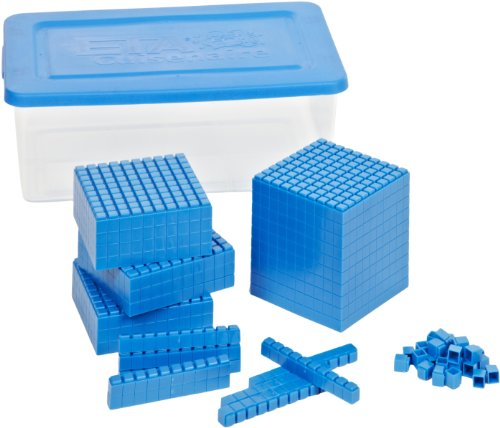 ETA hand2mind Blue Interlox Base Ten Blocks, Place Value Set (Set of 322)