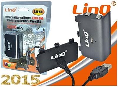 Batería Recargable 3200mAh Mando FOR Xbox One + USB Cable Cargador ...
