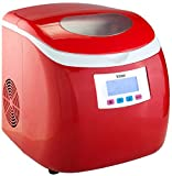 Appliances : Knox Compact Ice maker (27 Lbs in 24 Hrs) - Red Color
