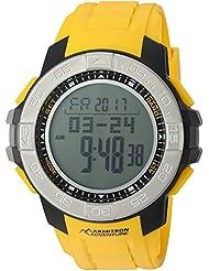 Armitron Adventure Mens AD/1011YLW Digital Multi-Function Yellow Resin Strap Sport Watch