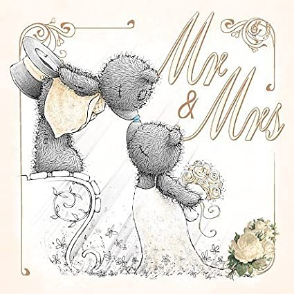 Amazon 3d holographic mr mrs me to you bear wedding card by 3d holographic mr mrs me to you bear wedding card by carte blanche greetings ltd m4hsunfo