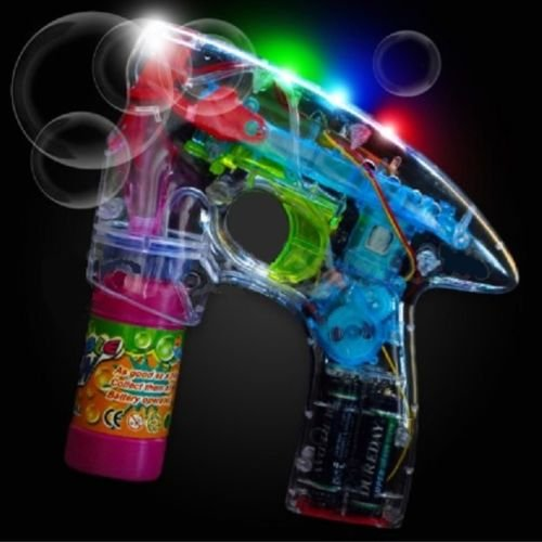 Flashing Bubble Gun - Light Up Blower Blaster With LED Lights Great Party (Blower Favors)