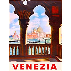 VENEZIA VENICE ITALY VINTAGE ART ITALIAN EUROPE TRAVEL ADVERTISEMENT ART Collectible Wall Decor POSTER Print. Poster measures 10 x 13.5 inches